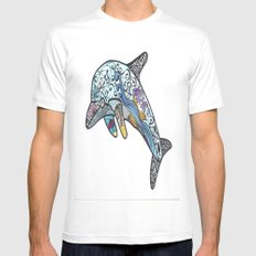 Dolphin Mens Fitted Tee White MEDIUM