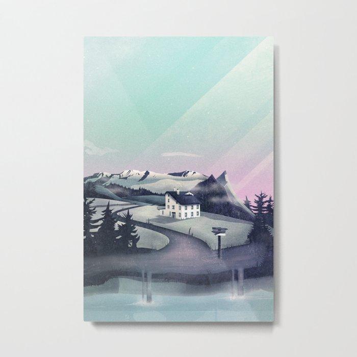 Alpine Island Metal Print