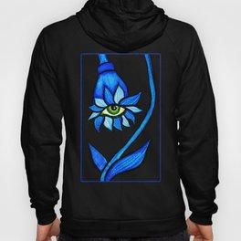 Blue Creepy Eye Flower Hoody