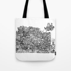 Busy City IV Tote Bag