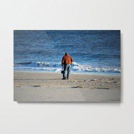 Searching The Beach Metal Print
