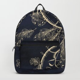 GOLDEN MOON IN DARK NIGHT Backpack