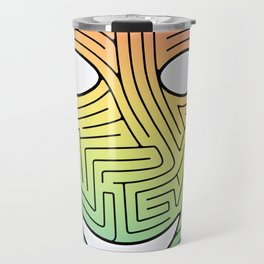 Mask Maze Travel Mug