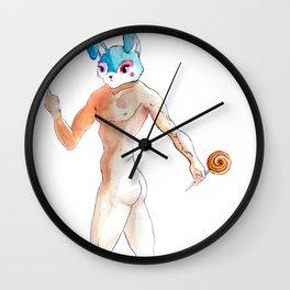 bunny man Wall Clock