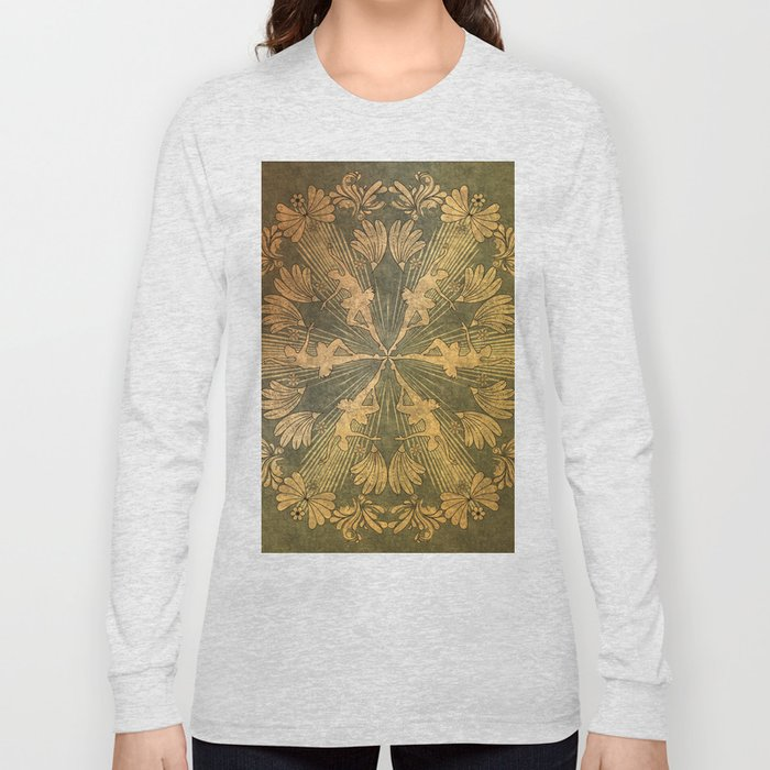 Wonderful mandala of ballerina Long Sleeve T-shirt