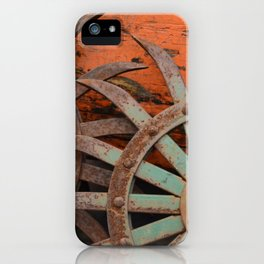 Rusted Metal Flowers iPhone Case