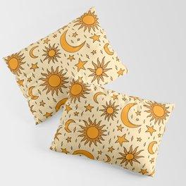 Vintage Sun and Star Print Pillow Sham