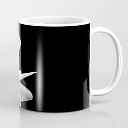 White Flowers Black Background Coffee Mug