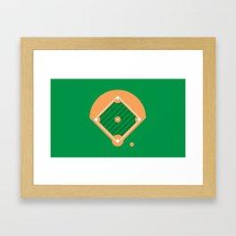 New York Normal: Old Man Softball. Framed Art Print