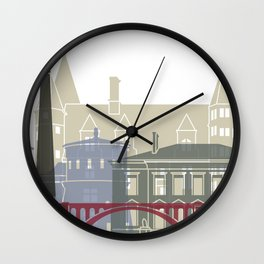 Luxembourg skyline poster Wall Clock