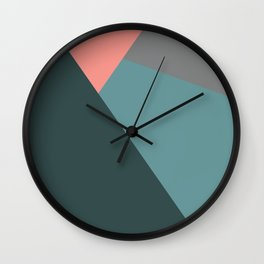Flashlight, blue & pink, abstract graphic Wall Clock