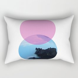 Ocean and the pink sky Rectangular Pillow