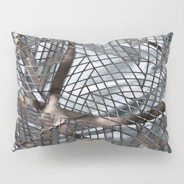 Silver Layered Gossamer 3D Digital Art Pillow Sham