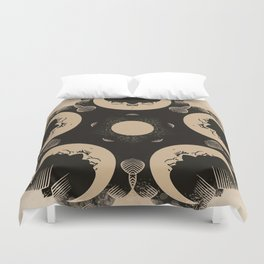 Ouija Wheel of the Moon - Beyond the Veil Duvet Cover