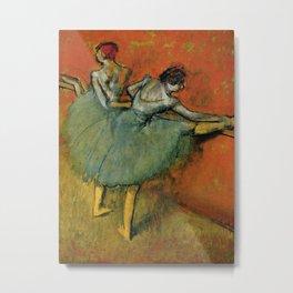 Edgar Degas - Dancers at The Bar Metal Print