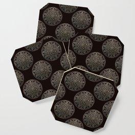 Maroon Mandala Pattern Coaster
