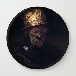 Rembrandt - The Man with the Golden Helmet Wall Clock