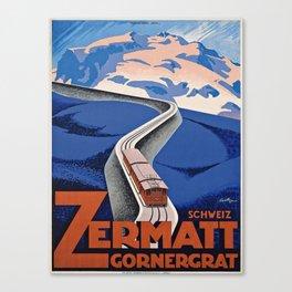Vintage poster - Zermatt Canvas Print