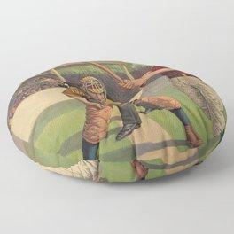 Softball Old Man Floor Pillow