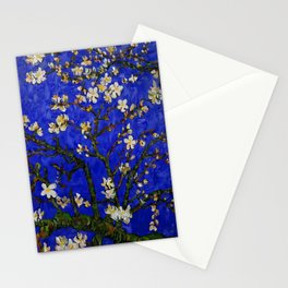 Abstract Daisy with Blue Background Stationery Cards