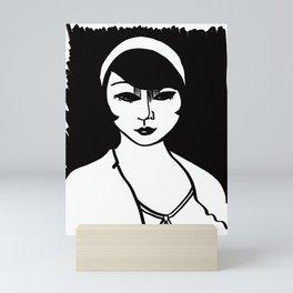 Woman, Black and White Mini Art Print