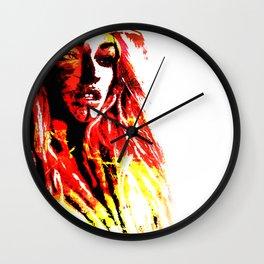 Obsidian Orange Wall Clock