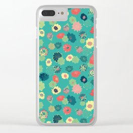 Succulent Blooms Clear iPhone Case