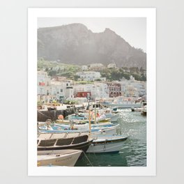 Boats of Capri Art Print