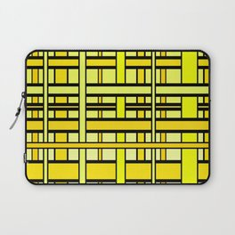 Yellow grid Laptop Sleeve