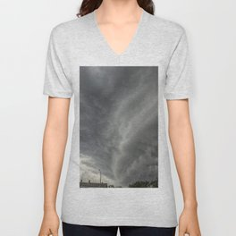Cloud Wall Turning Unisex V-Neck