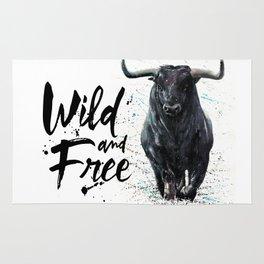 Buffalo wild & free Rug