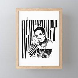 Free A$AP Rocky Framed Mini Art Print