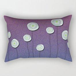 Abstract Flower Design Rectangular Pillow
