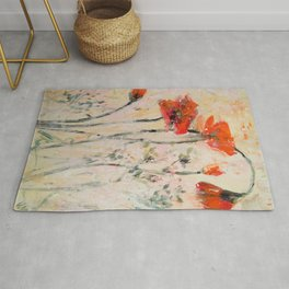 Poppies and Pretty Weeds Rug