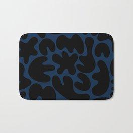Blob Collage - Navy Bath Mat