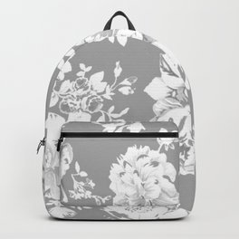 Gothic White Roses Backpack