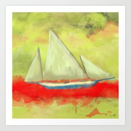 Abstract-ship Art Print