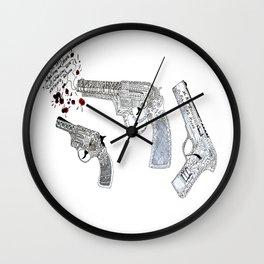 Shoot by art Wall Clock