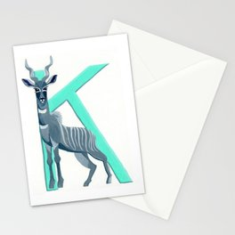 K is for Kudu Letter Alphabet Decor Design Art Pattern Stationery Cards
