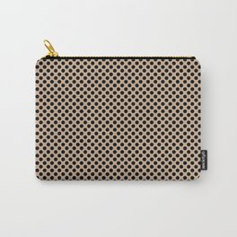 Hazelnut and Black Polka Dots Carry-All Pouch