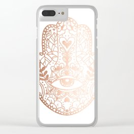 Copper Hamsa Hand Clear iPhone Case