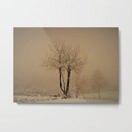 Sepia winter Metal Print