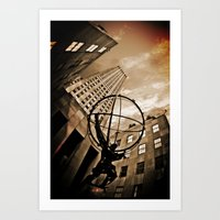 atlas Art Prints featuring Atlas by Chad Madden
