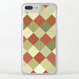 CRAZY QUILT Clear iPhone Case