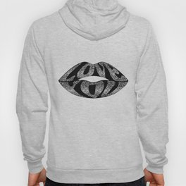 Love you with glitter letters inside lips Hoody