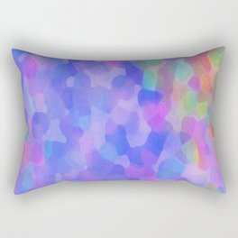 Blue Places Rectangular Pillow