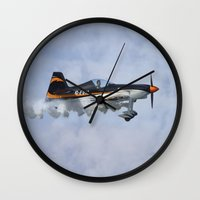 pilot Wall Clocks featuring Stunt Pilot by Peaky40