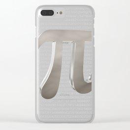 Cute metal pi sign Clear iPhone Case