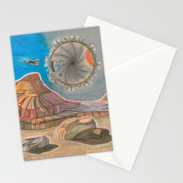 A Crash of Rhinos mural, Planetary Stargate (4 OF 6) Stationery Cards