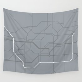London Underground Jubilee Line Route Tube Map Wall Tapestry